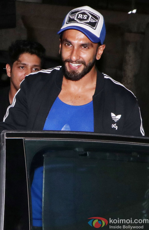 Ranveer Singh spotted at Sanjay Leela Bhansali's house
