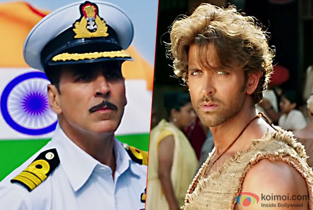 Box Office - Rustom aiming for 125 crore+ lifetime, Mohenjo Daro to fold up below Jodhaa Akbar