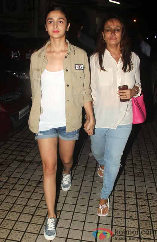 Alia Bhatt spotted at PVR with her mother