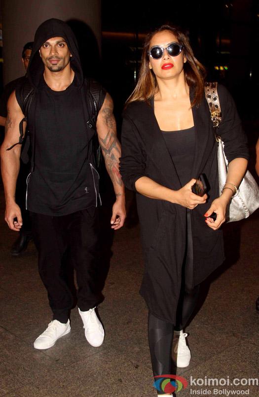 Karan Singh Grover and Bipasha Basu spotted at airport