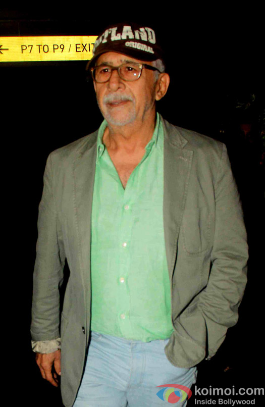 Naseeruddin Shah spotted at airport