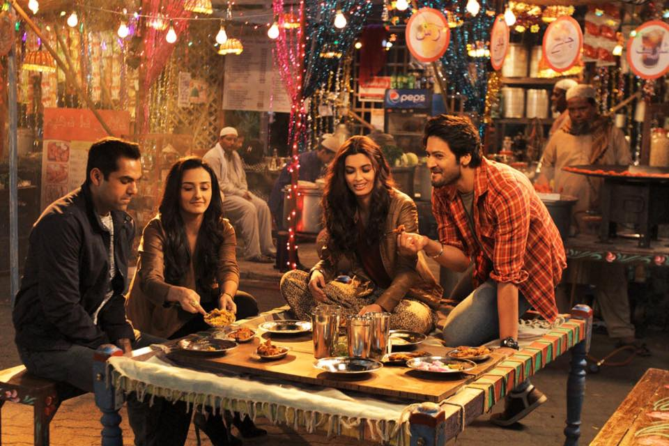 Abhay Deol, Momal Sheikh, Diana Penty and Ali Fazal in a still from Happy Bhag Jayegi