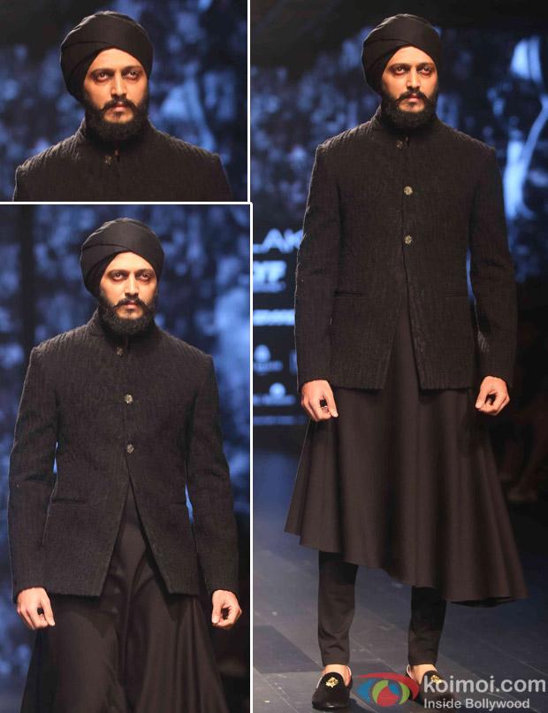Ritesh Deshmukh During The Lakme Fashion Week Winter Festive 2016