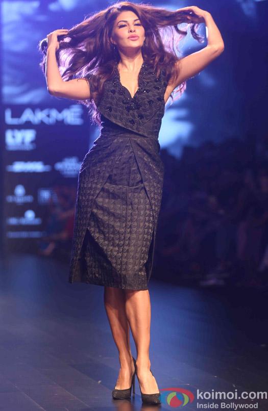 Jacqueline Fernandez During The Lakme Fashion Week Winter Festive 2016