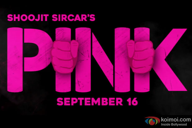 Amitabh Bachchan and Taapsee Pannu starrer PINK logo