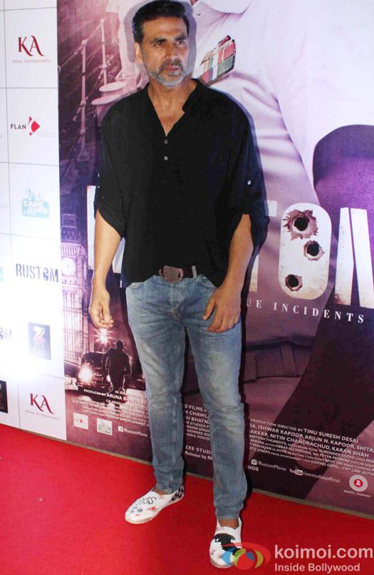 Akshay Kumar during the Rustom Screening
