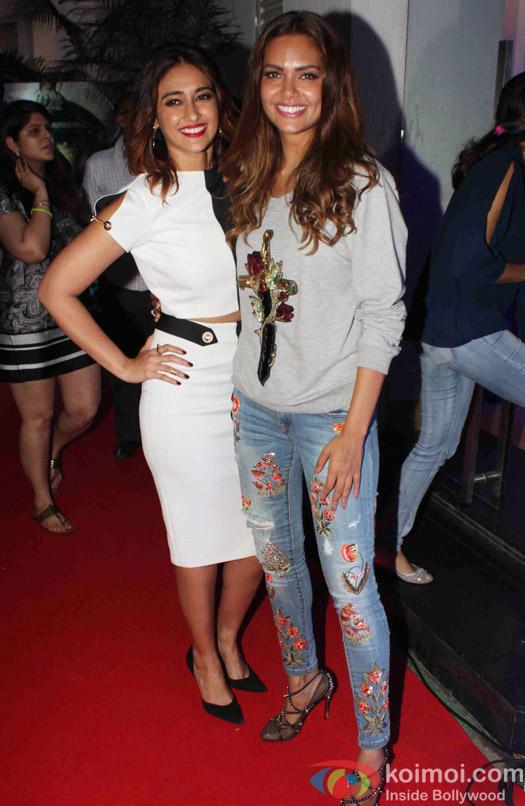 Ileana D'cruz and Esha Gupta during the Rustom Screening