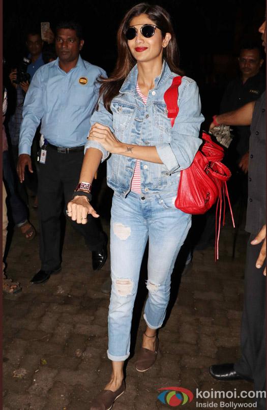 Shilpa Shetty during the Rustom Screening