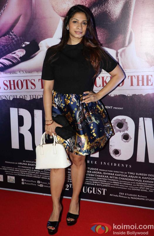 Tanisha Mukherjee during the Rustom Screening