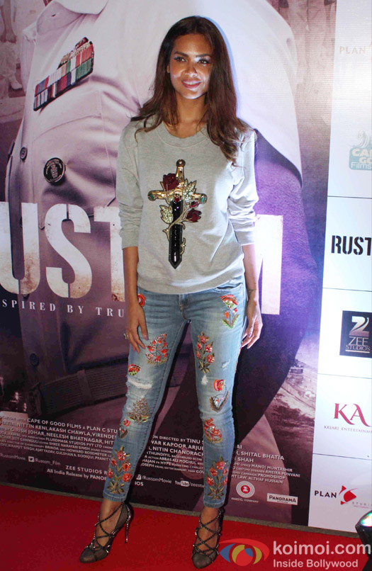 Esha Gupta during the Rustom Screening