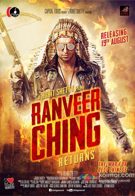 Rohit Shetty and Ranveer Ssing's Explosive Poster Of Ranveer Ching Returns Out Now!