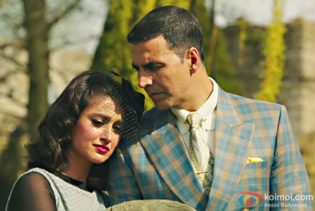 Ileana D'Cruz and Akshay Kumar in a still from Rustom