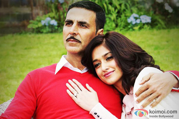 Akshay Kumar and Ileana D'Cruz in a still from Rustom