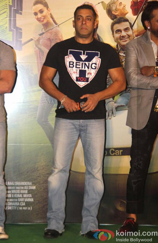 Salman Khan during the trailer launch of film Freaky Ali