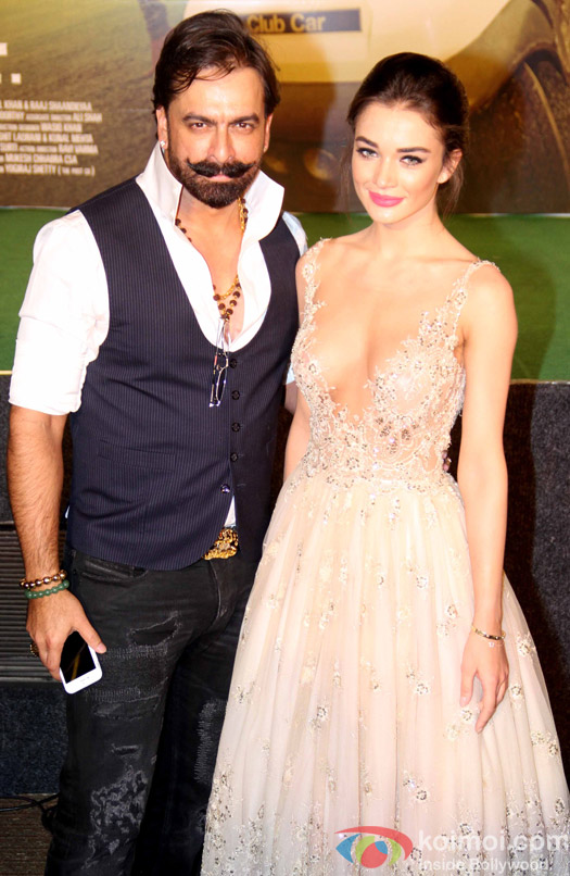 Amy Jackson and Jas Arora during the trailer launch of film Freaky Ali