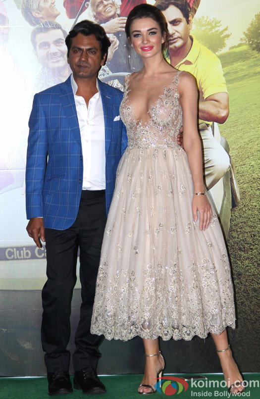 Nawazuddin Siddiqui and Amy Jackson during the trailer launch of film Freaky Ali