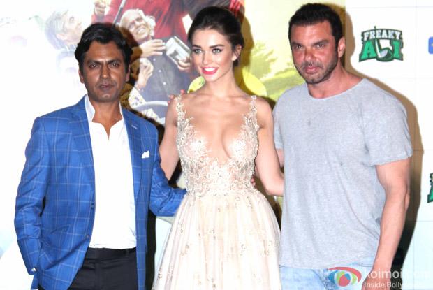 Nawazuddin Siddiqui, Sohail Khan and Amy Jackson during the trailer launch of film Freaky Ali
