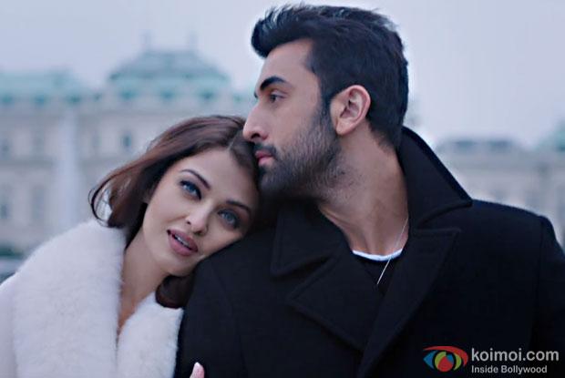 Aishwarya Rai Bachchan and Ranbir Kapoor in a still from Ae Dil Hai Mushkil