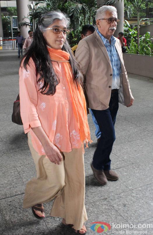 Ratna Pathak and Naseeruddin Shah Spotted at Airport