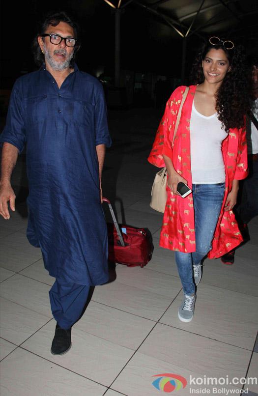 Saiyami Kher and Rakeysh Omprakash Mehra Spotted At Airport