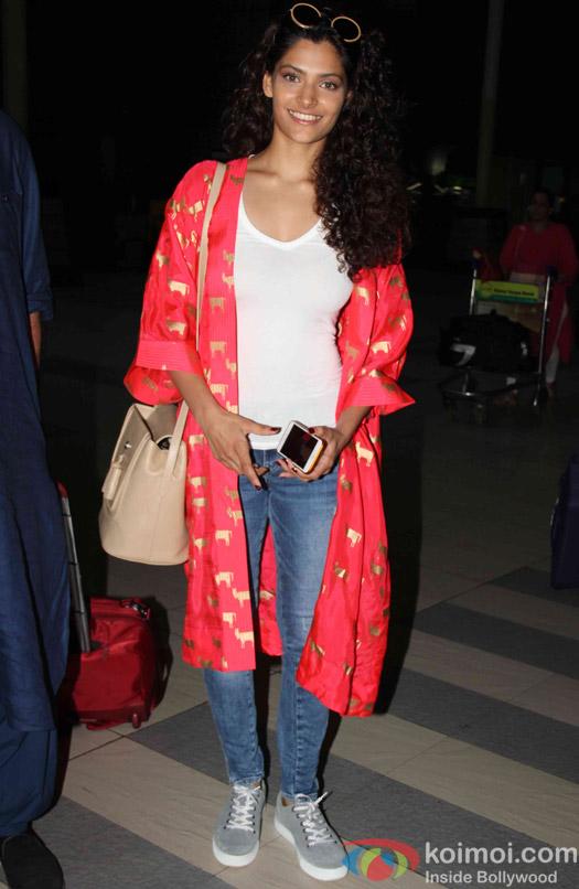 Saiyami Kher Spotted At Airport