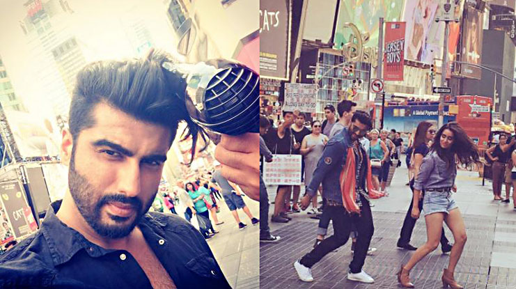 Arjun Kapoor taking Times Square by storm