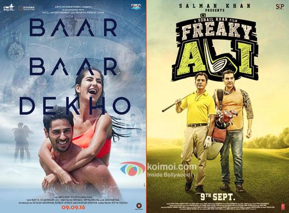 Baar Baar Dekho And Freaky Ali Posters