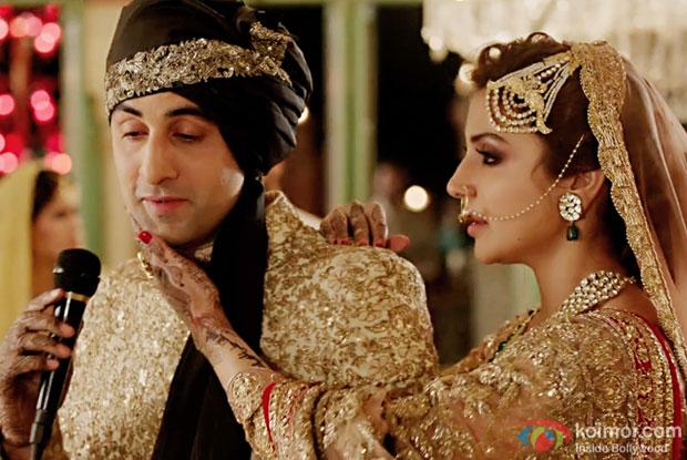 Ranbir Kapoor And Anushka Sharma in a Channa Mereya song still from Ae Dil Hai Mushkil