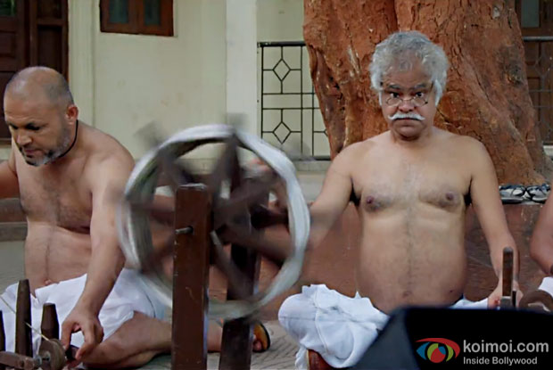 Sanjay Mishra in a still from Gandhigiri