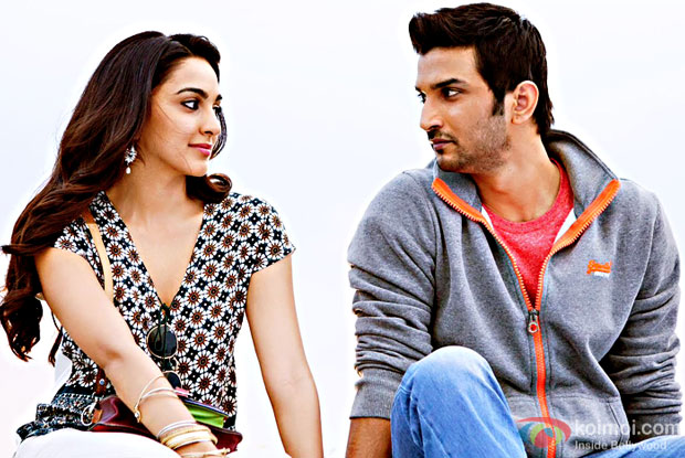 Kiara Advani and Sushant Singh Rajput in a Jab Tak song still from M. S. Dhoni: The Untold Story