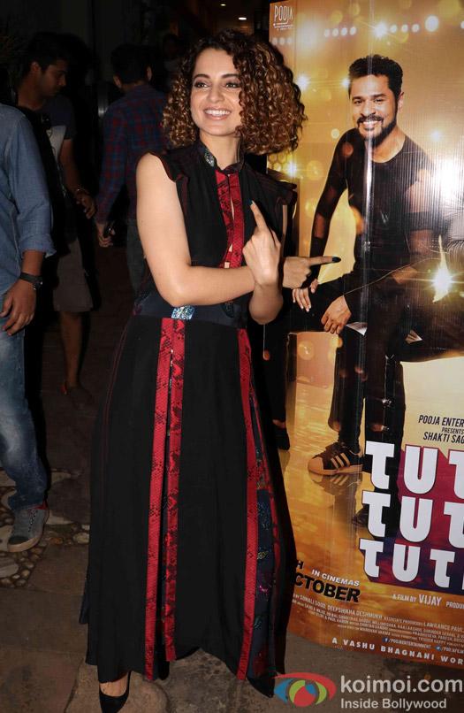 Kangana Ranaut during the launch of 'Tutak Tutak Tutiya' title track