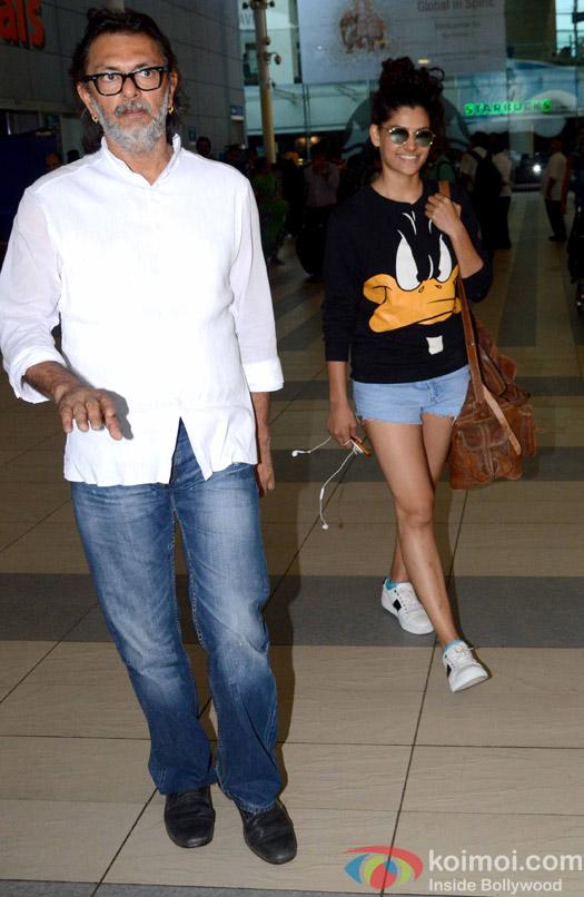 Rakesh Omprakash Mehra and Saiyami Kher spotted at Airport