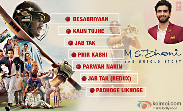 M. S. Dhoni – The Untold Story Full Audio Jukebox Out