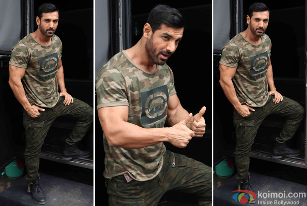 John Abraham spotted at Mehboob Studio