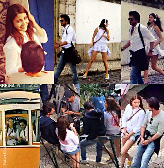 On The Sets Pictures : Shah Rukh Khan, Anushka Sharma Shoot For The Ring's Third Schedule In Lisbon