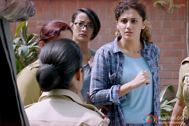Andrea Tariang and Taapsee Pannu in a still from Pink