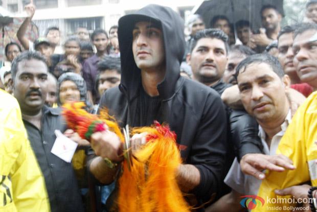 Ranbir Kapoor During the Ganpati Visarjan