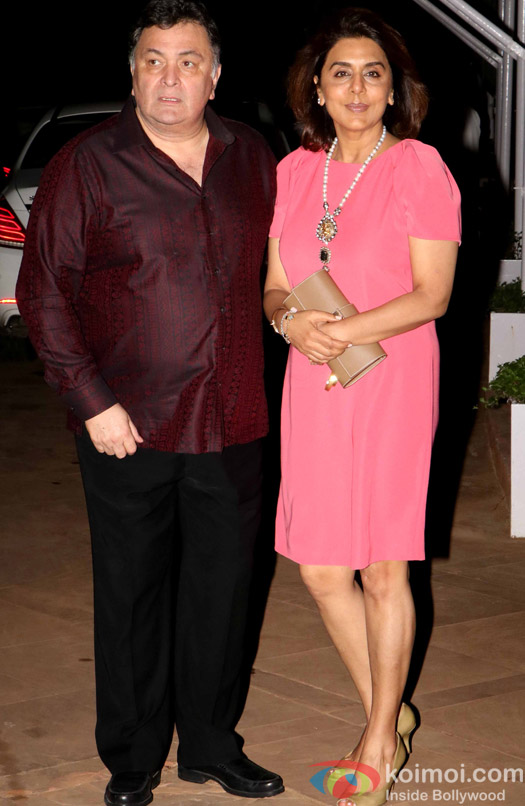 Rishi Kapoor and Neetu Singh during Rima Jain 60th birthday celebration