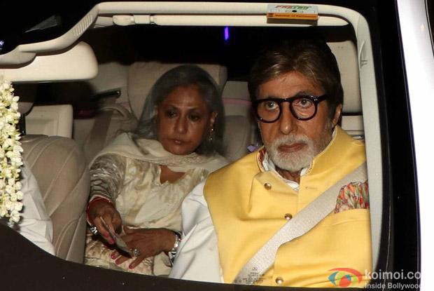Amitabh bachchan and Jaya Bachchan during Rima Jain 60th birthday celebration
