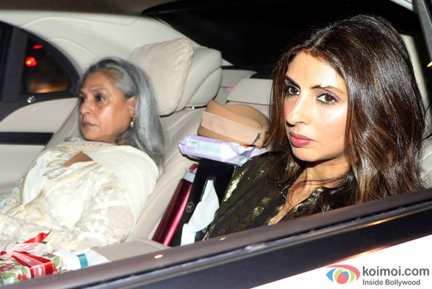 Shweta bachchan and Jaya Bachchan during Rima Jain 60th birthday celebration