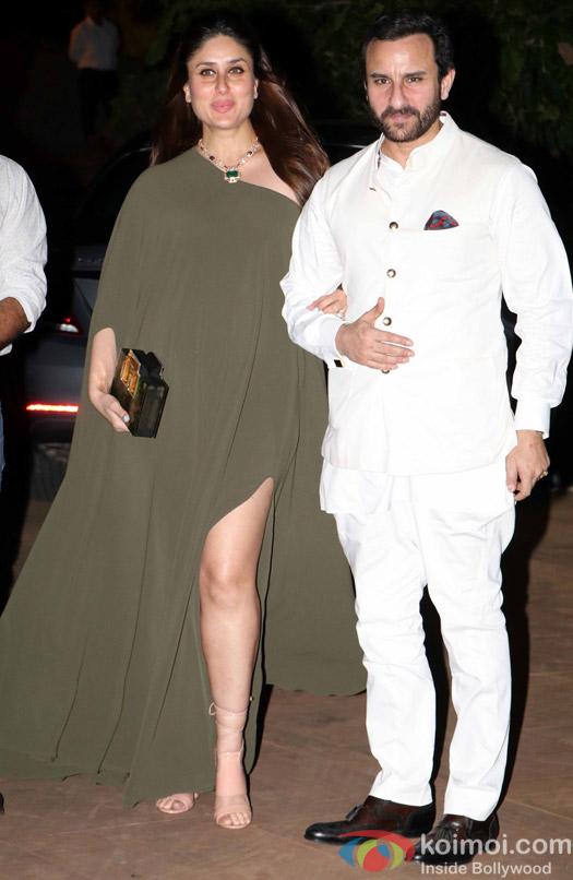 Kareena Kapoor and Saif Ali Khan during Rima Jain 60th birthday celebration