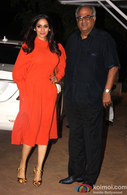 Sridevi and Boni Kapoor during Rima Jain 60th birthday celebration