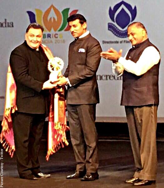 Rishi Kapoor honoured at 1st BRICS Film Festival