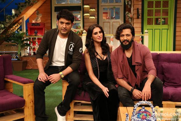 Ritesh Deshmukh & Nargis Fakhri on the sets of The Kapil Sharma Show