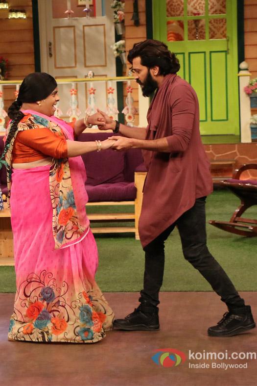 Ritesh Deshmukh on the sets of The Kapil Sharma Show