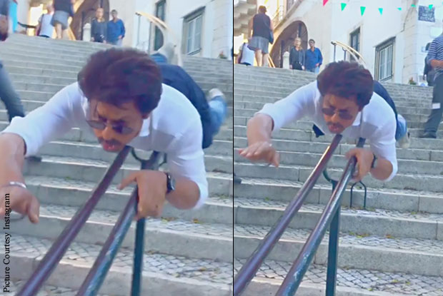 SRK Believes He Can Fly! Watch How!