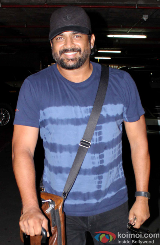 R. Madhavan spotted at Airport