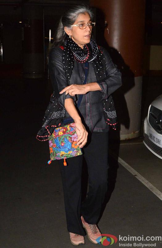 Ratna Pathak spotted at Airport