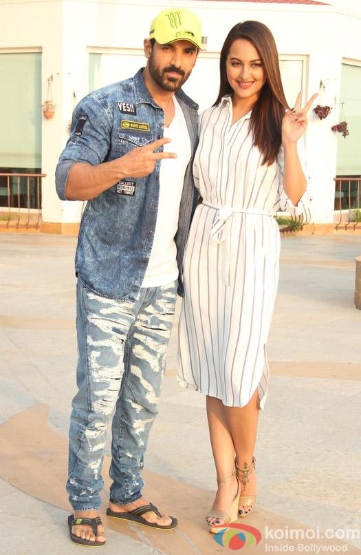 John Abraham and Sonakshi Sinha spotted at Mumbai