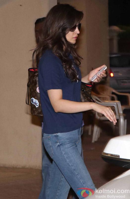 Kriti Senon spotted at Shushant Singh Apartment
